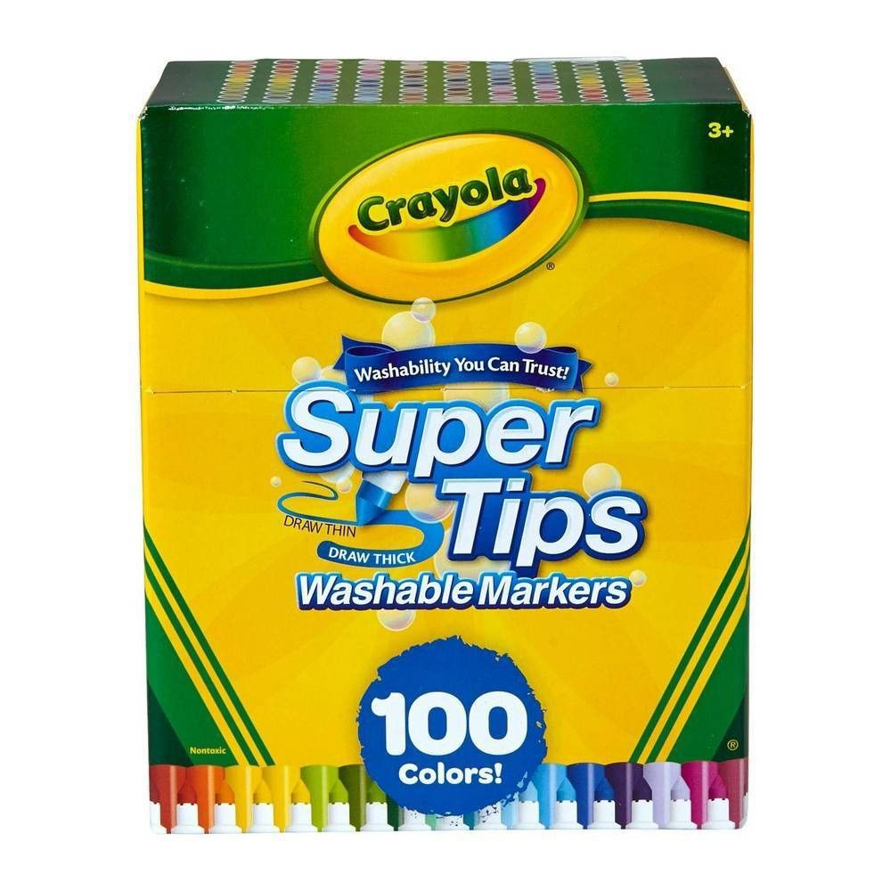 Crayola 100pk Super Tips Washable Markers Crayola Supertips
