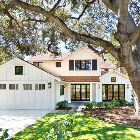 One Of My Favorite Exterior Whites Is Simply White, Not   Have Garage Be  Board And Batten To Change Up The Facade?