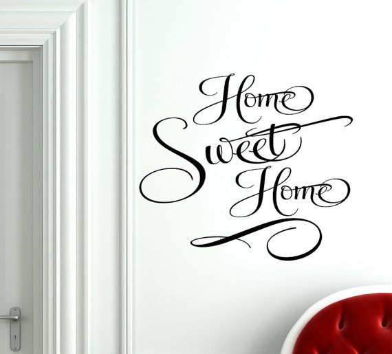 Home Sweet Home Decal Vinyl Home Sweet Home Wall By FunnyAndSticky