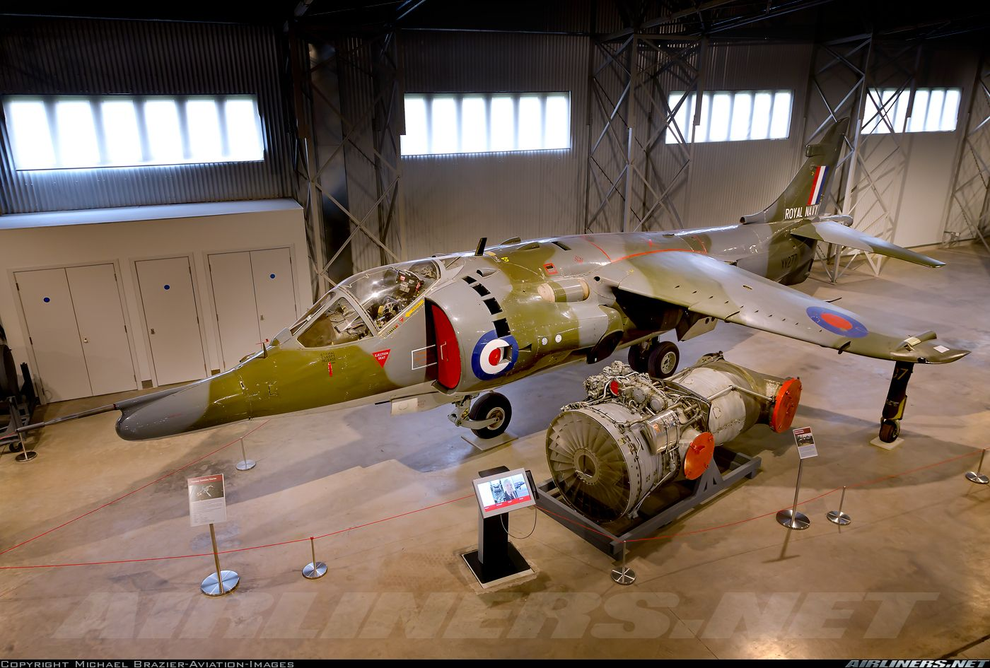 The second preproduction Harrier is seen here preserved