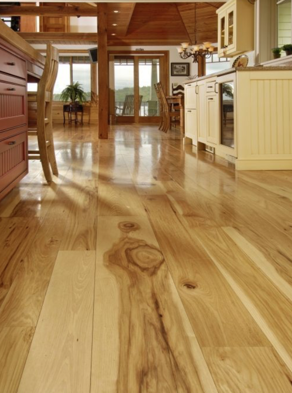 Hickory Hardwood Flooring In Kitchen Carlisle Wide Plank Floors Hickory Hardwood Floors Wide Plank Hickory Flooring Wood Floors Wide Plank