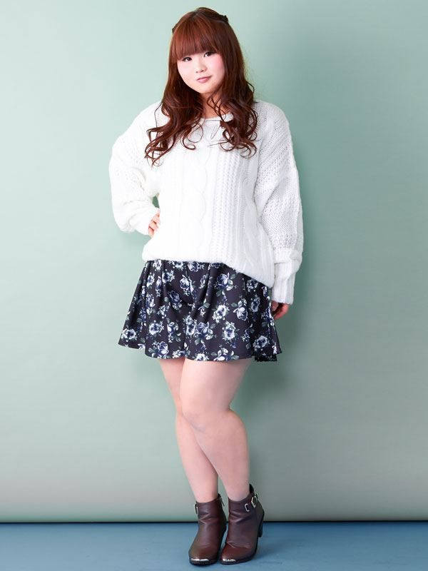 Plus size Asian fashion and cute casual fashion  Photo
