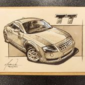 New week and a new brand! Today's sketch a day submission: the Audi TT Mk1 (…