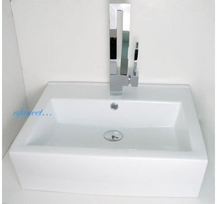 Rectangular Porcelain Ceramic Single Hole Countertop Bathroom Vessel Sink 20 1 2 X 17 X 6 Inch Glass Sink Bathroom Sink Sink