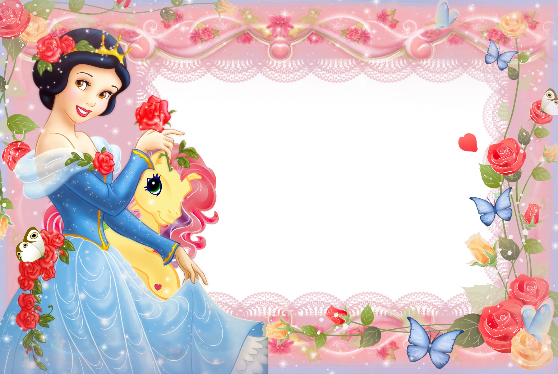 Girls Transparent Frame with Princess Snow White | Gallery ...