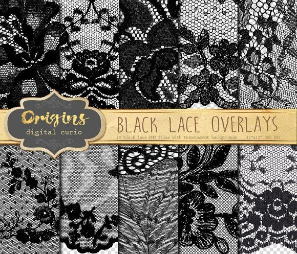 Black Lace Png Overlays Overlays Transparent Digital Paper Overlays