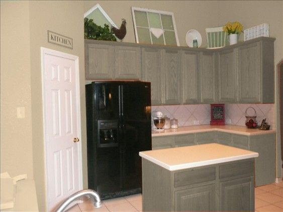 Tan Walls With Cabinets Painted Green Wall Paint Ideas Oak