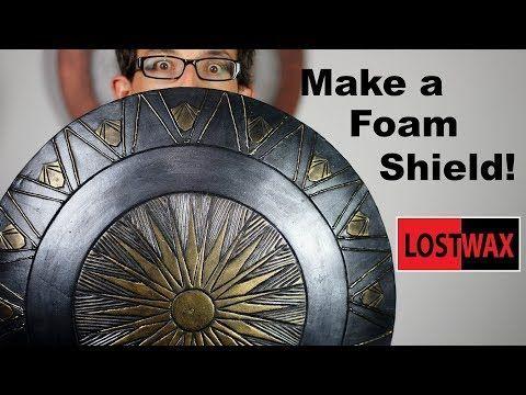 How to Make a Domed Foam Shield DIY Wonder Woman Captain America Cosplay Shiel  C O S P L A Y