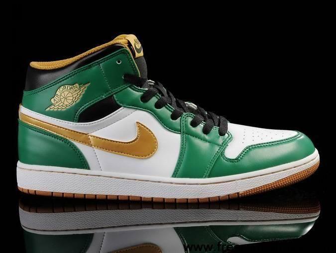 promo code 4aa34 7edaa Discount Air Jordan 1 White Green Gold Shoes Shoes Shop