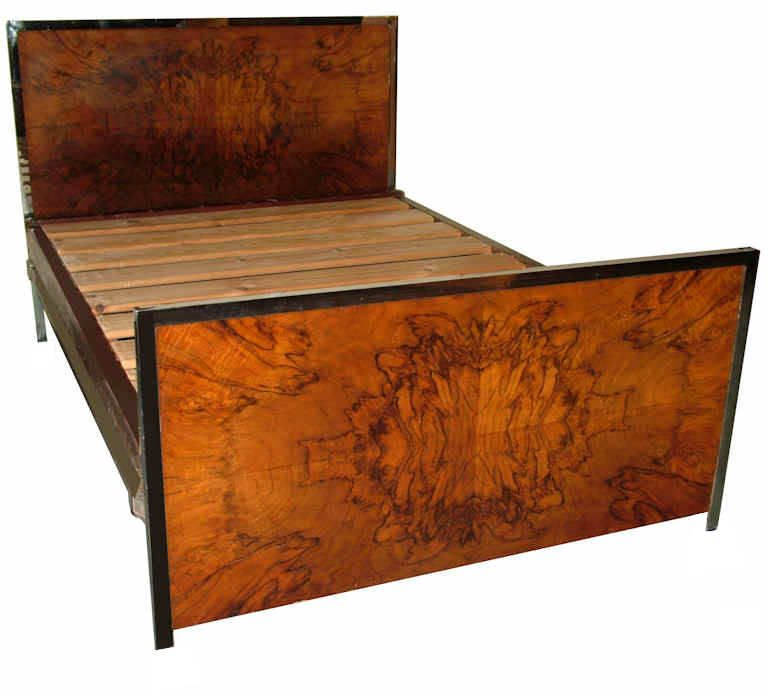 1930\'s Art Deco Double Walnut Bed | Arts Nouveau and Deco | Pinterest