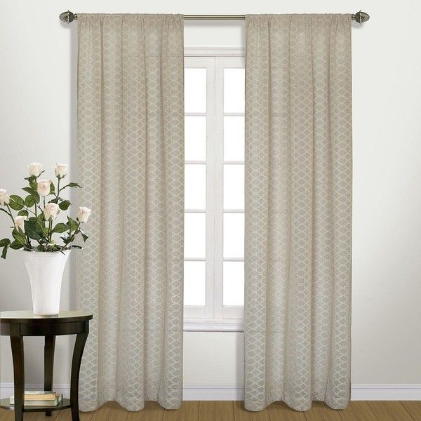 United Curtain Co. Belmont Semi-Sheer Curtain (1.475 RUB) ❤ liked on Polyvore featuring home, home decor, window treatments, curtains, brown, lattice curtains, semi sheer curtains, lightweight curtains, embroidered curtains and rod pocket curtains