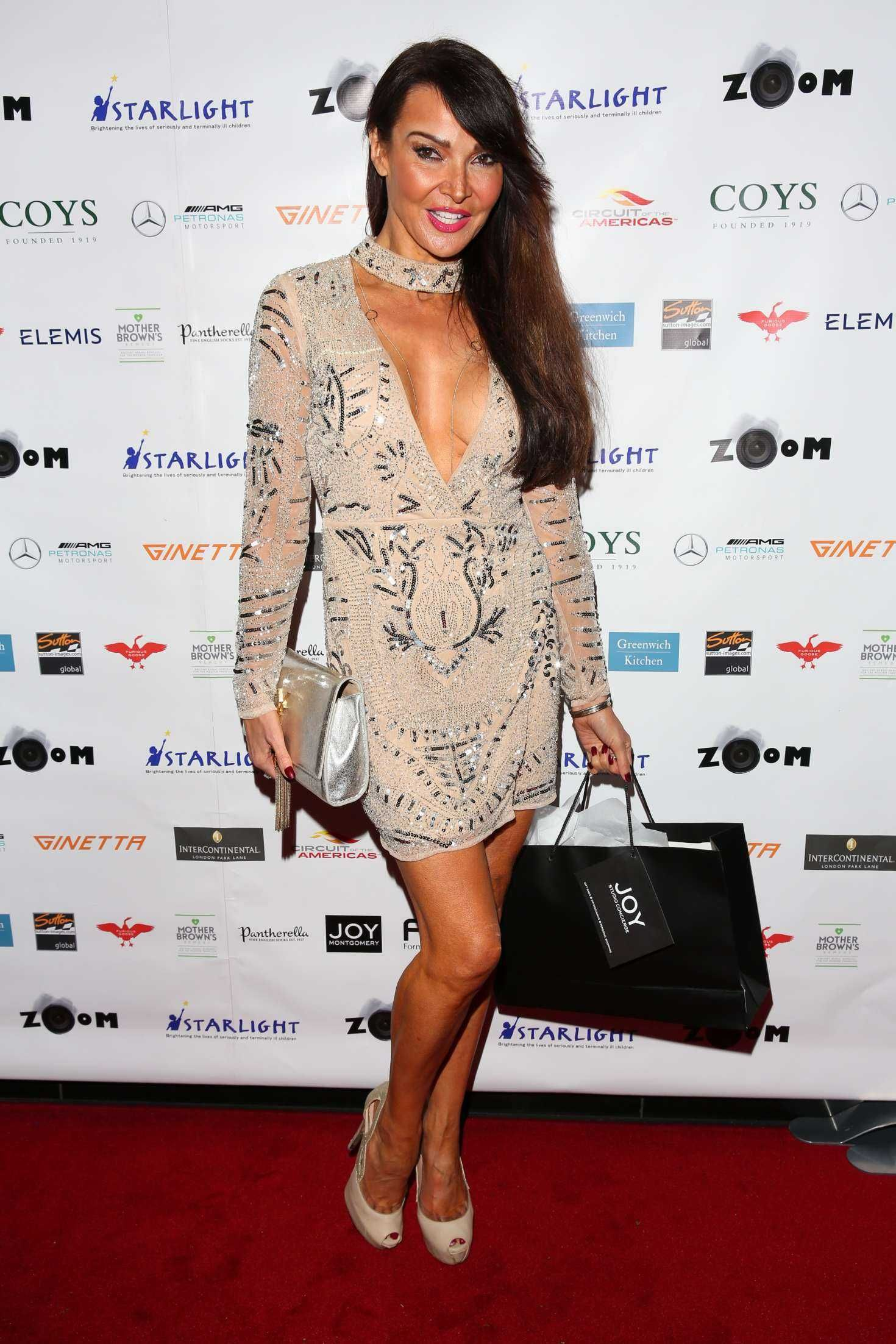 Lizzie cundy at zoom auction charity gala in london new picture