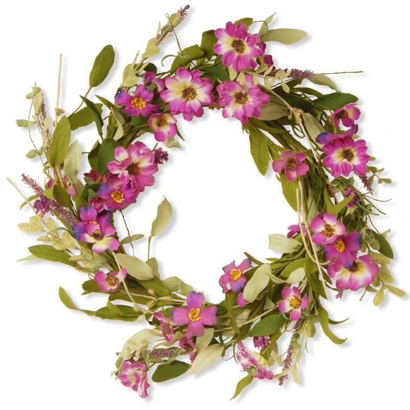 National Tree Company Garden Accents 20 in. Floral Wreath with Daisy and Lavender - GAF30-20WDLP