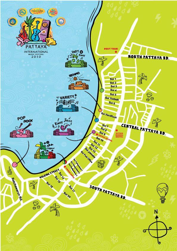 Pattaya International Music Festival 2010 Map Thailand 2019