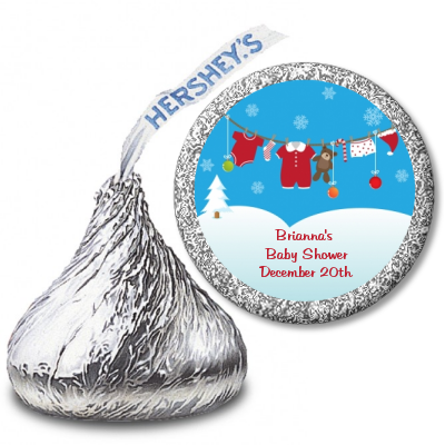 Clothesline Christmas Hershey Kiss Stickers Baby Shower Stickers Baby Shower Hershey Kisses Christmas Hershey Kisses