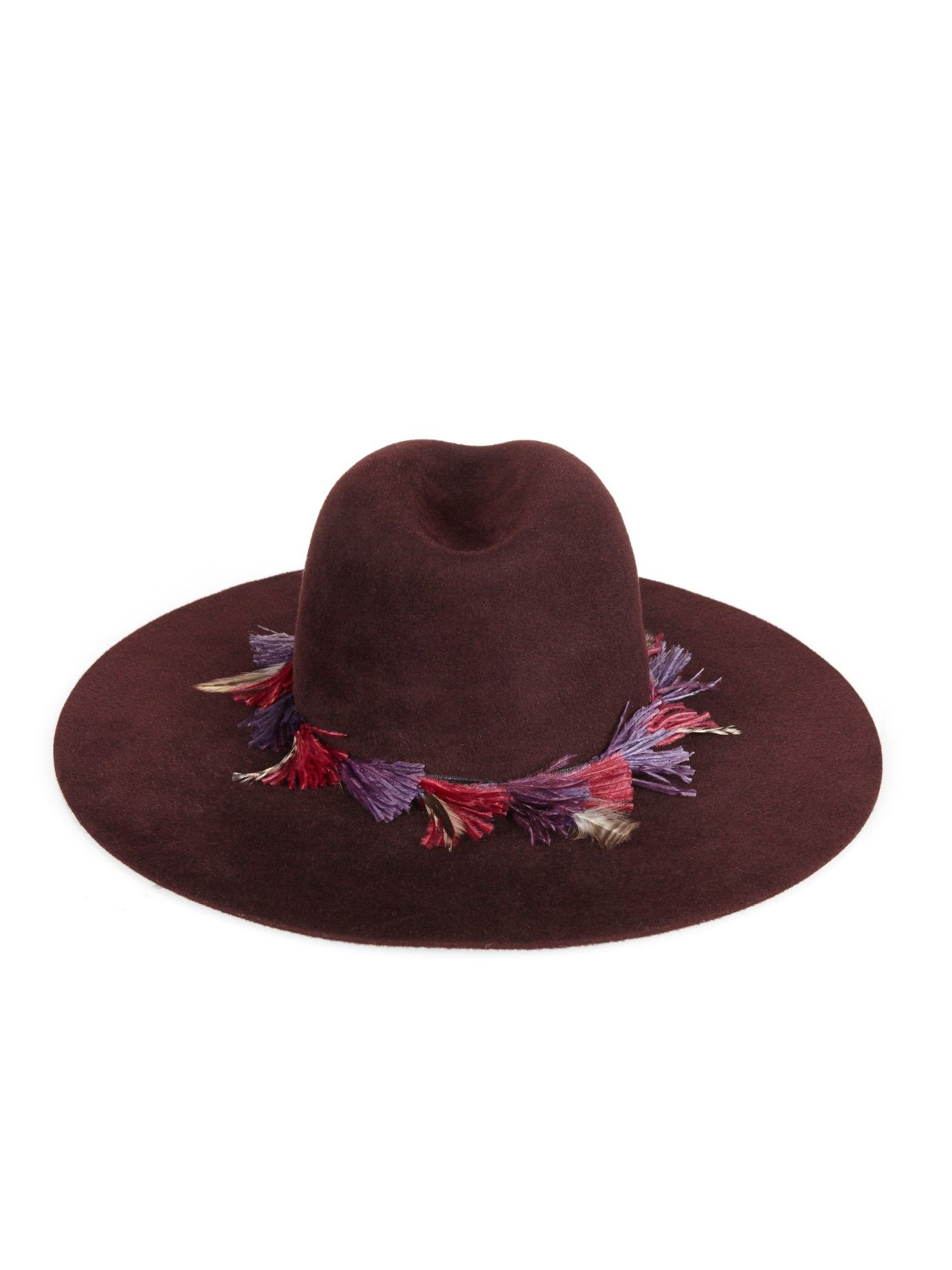 c28d44d1211 Chamonix ostrich-feather wide-brimmed hat