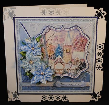 WINTER CHURCH 7 5 Christmas Mini Kit Decoupage on Craftsuprint designed by Janet Briggs - made by Yvonne Middleton - Printed on 135 gsm gloss paper, I cut out all of the elements and decoupaged using foam pads, I then mounted the image onto the card using dst. This is a beautiful design. - Now available for download!