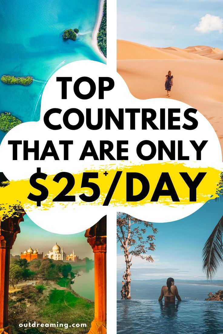 Travel on a budget to amazing countries in Asia, Europe, South America, and Africa. This list will give you the top 14 cheapest countries to visit in 2020 if you are traveling on a budget. These travel tips will help you afford travel #travelhacks #cheaptravel #budgettravel #cheapdestinations #travel #travelonabudget #traveldestinations