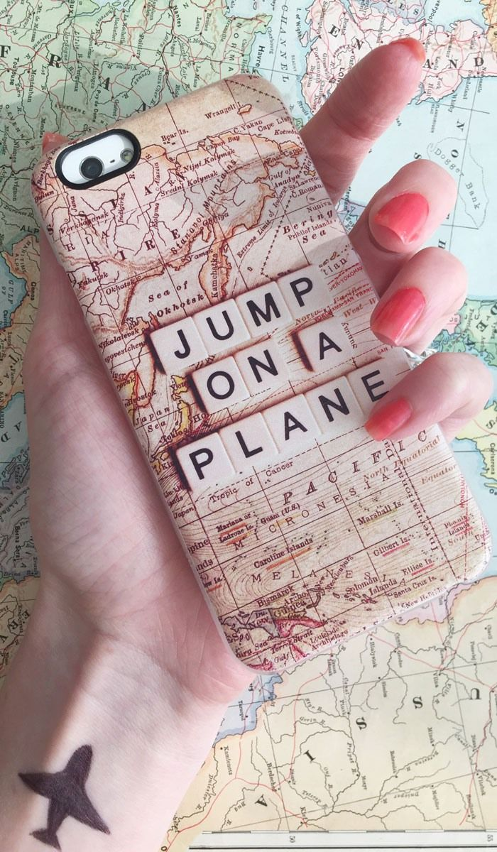 ` jump on a plane ` Travel phone case