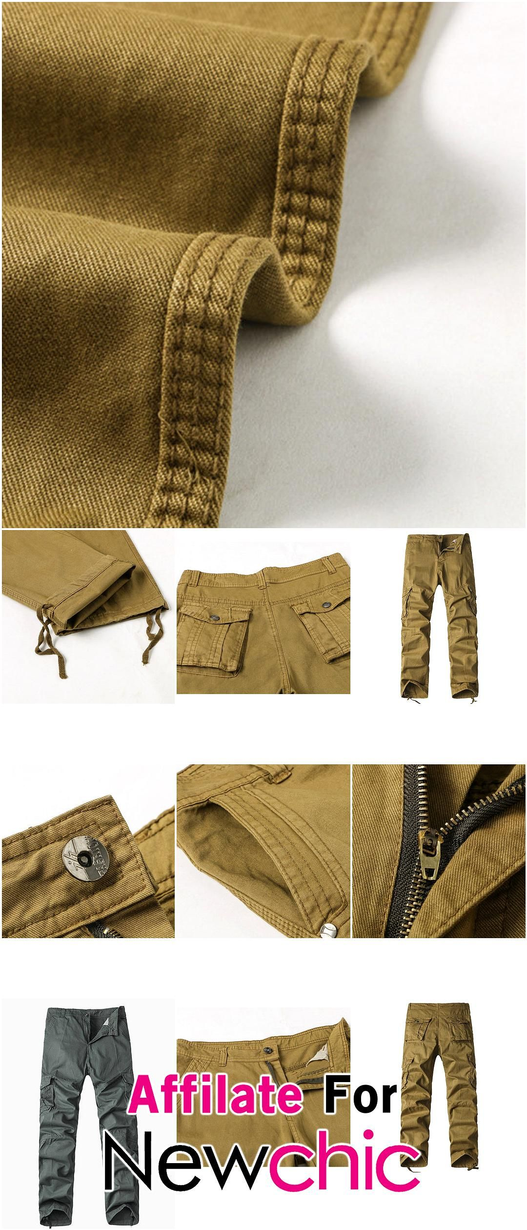 Mens Cargo Pants Solid Color Overall Loose Fit Outdoor Spring Fall Trouser USD 2029 Mens Cargo Pants Solid Color Overall Loose Fit Outdoor Spring Fall Trouser USD 2029 US...