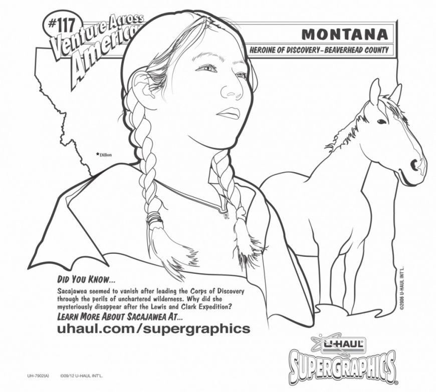 Coloring Download. Sacagawea Coloring Page: Sacagawea