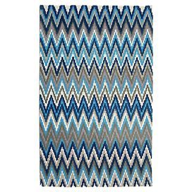 Bring a pop of pattern to your living room or master suite with this hand-loomed cotton rug, showcasing a striking chevron motif in teal and blue.   Product: RugConstruction Material: CottonColor: Teal and blueFeatures: Hand-loomedNote: Please be aware that actual colors may vary from those shown on your screen. Accent rugs may also not show the entire pattern that the corresponding area rugs have.Cleaning and Care: Professional cleaning recommended