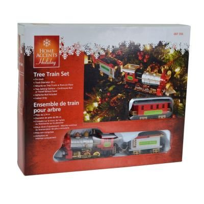 Home Accents Holiday Christmas Tree Train 5523018 At The Home Depot Christmas Tree Train Indoor Christmas Decorations Holiday Christmas Tree
