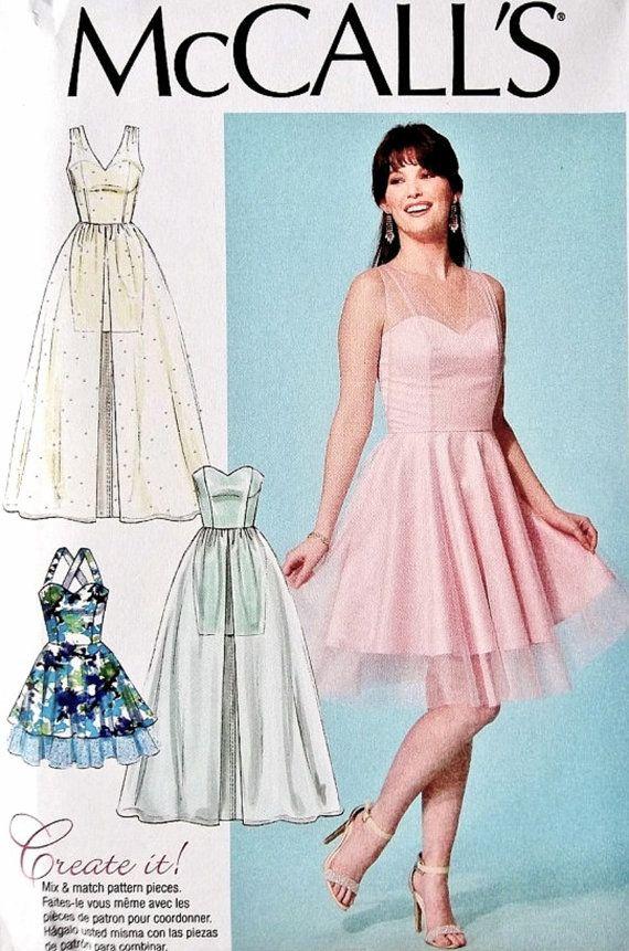 Formal Dress Pattern, Strapless Dress Pattern, Evening Gown Pattern ...