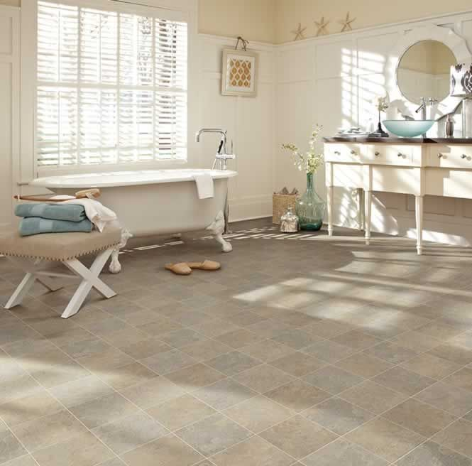 Waterproof and gorgeous sheet vinyl flooring from IVC US for fashionable  bathrooms  Flexitec Timeless Traditions Premiere collection in Carolina 937. CAROLINA 937 FLEXITEC TIMELESS TRADITIONS   PREMIERE   vinyl and