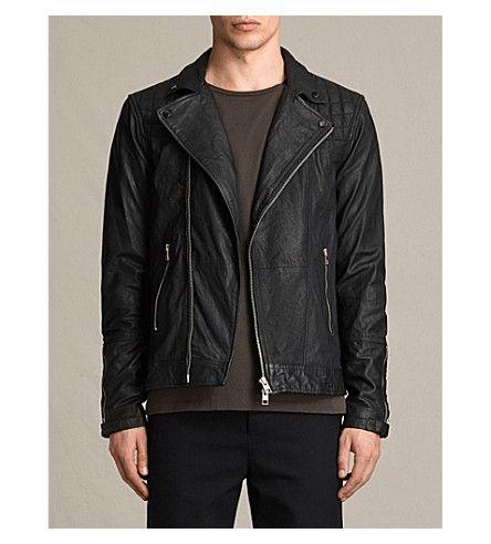 Allsaints Kushiro Leather Biker Jacket Leather Jacket Style Leather Jacket Men Leather Jacket