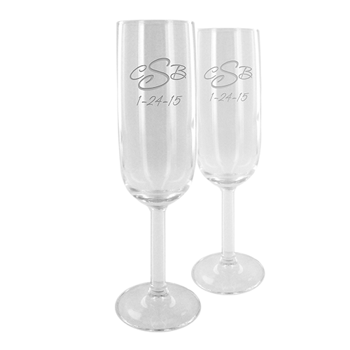 Set Of Two Customized Champagne Flutes Custom Wine Glasses Personalized Champagne Flutes Personalized Wine Glasses