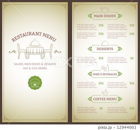 Restaurant Menu Template      Restaurant Menu
