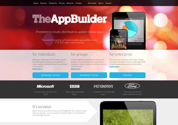 Build your own app, Website