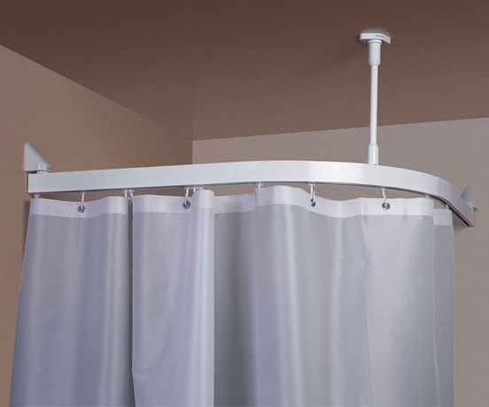 Pictures Of The Curtain Hung To Ceiling | Shower Curtain Ceiling Track  System   Shows Curve
