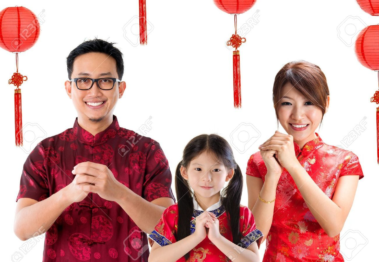 17056468 chinese family greeting chinese new year concept isolated 17056468 chinese family greeting chinese new year concept m4hsunfo