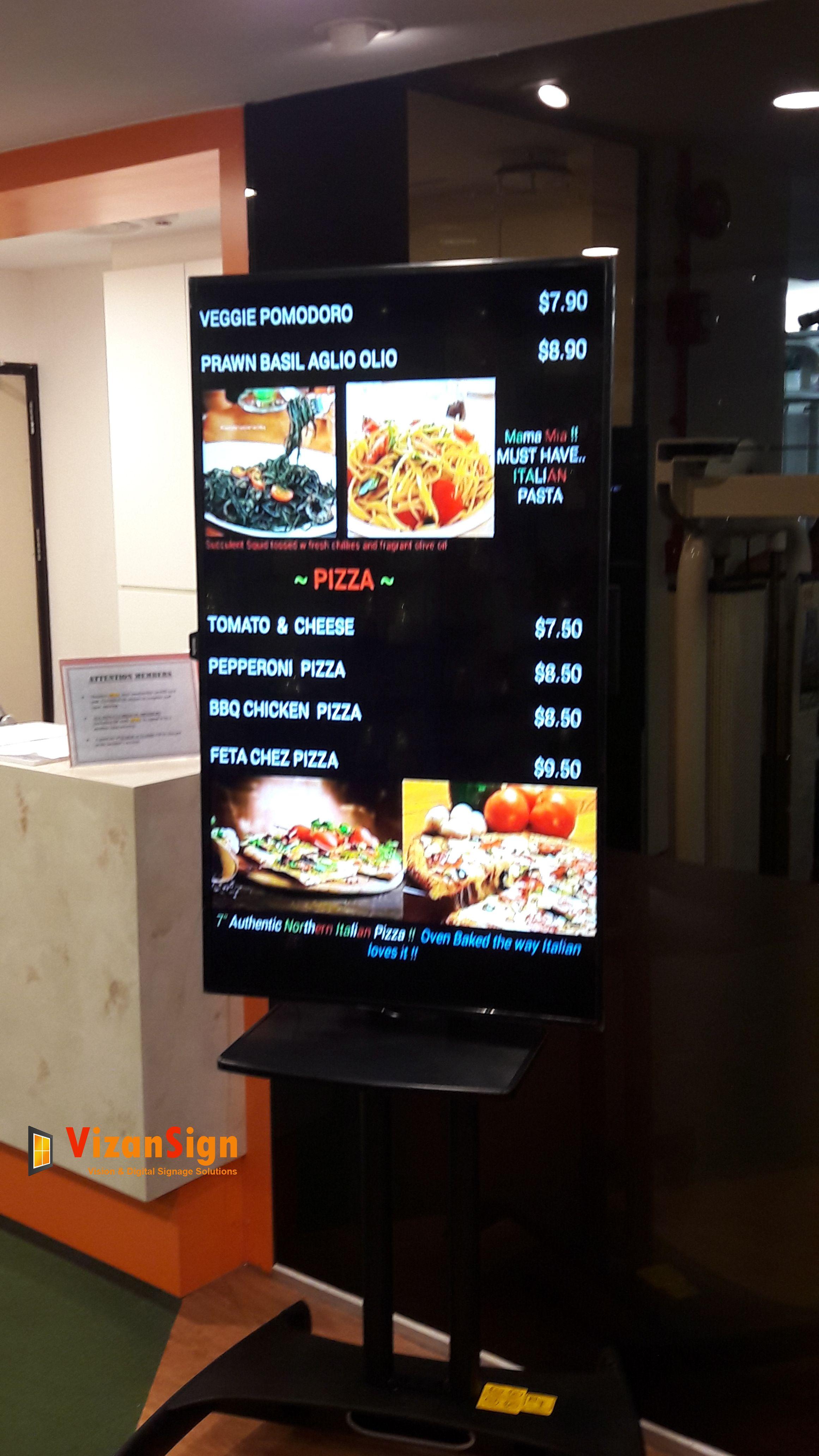 Tv Display Menu Boards Singapore Menu