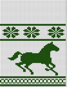 68 Trendy Knitting Charts Horse Patterns #horsepattern