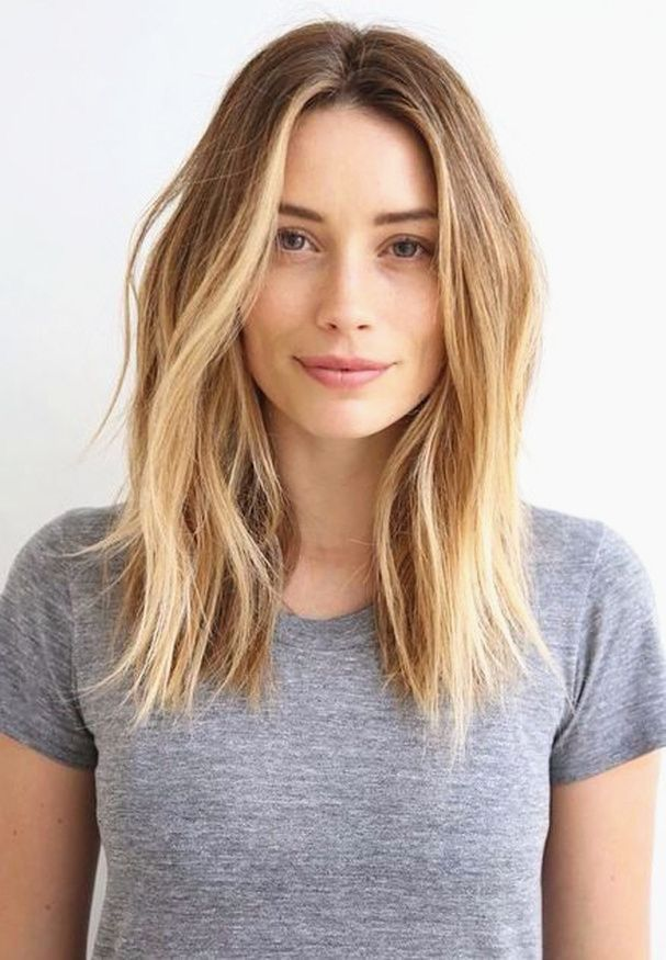 One Length Below The Shoulder One Length Hair Cuts Pinterest