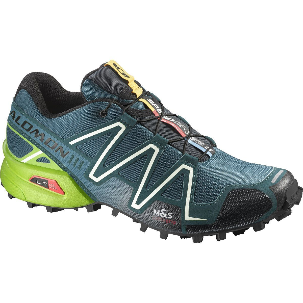 half off 5283a 98180 Salomon Men s Speedcross 3 Mountain Trail, Cobalt Blue Granny Green Black,  7 M US