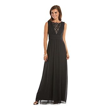 a48c84b96d3 Chaps Draped Embellished Empire Evening Gown - Women s