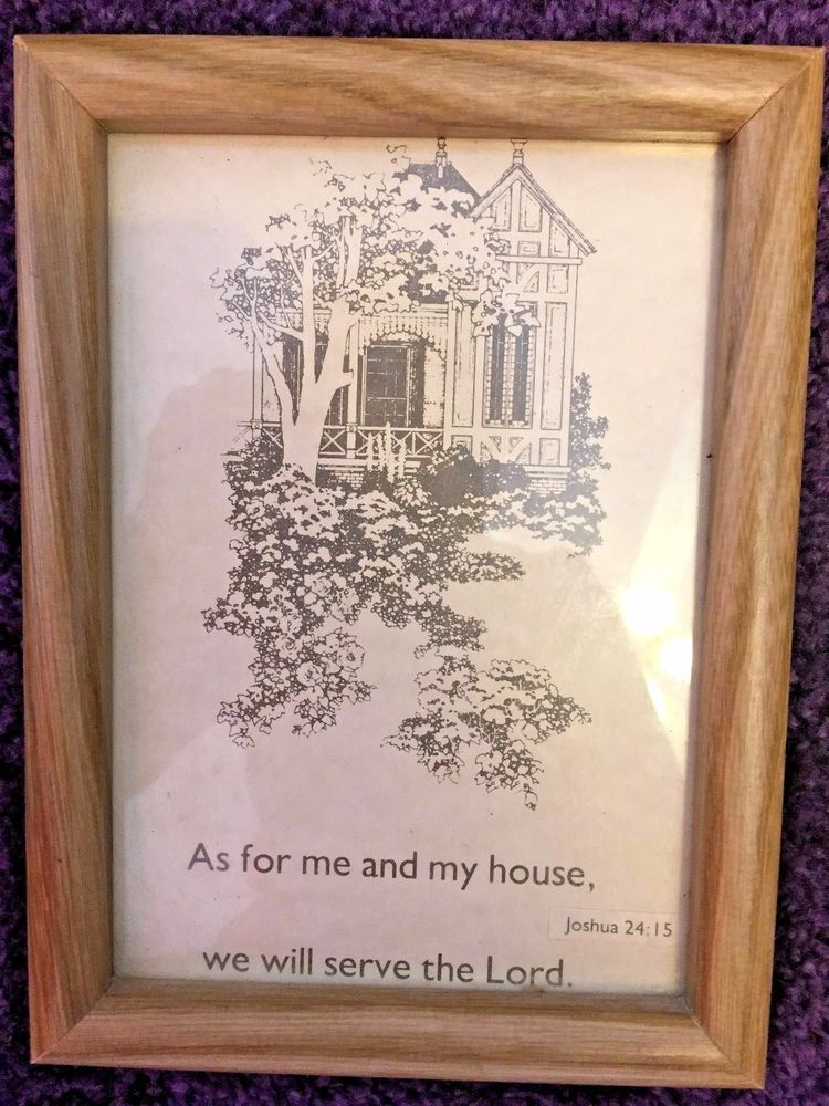 Wooden Frame Picture As For Me And My House We Will Serve The Lord