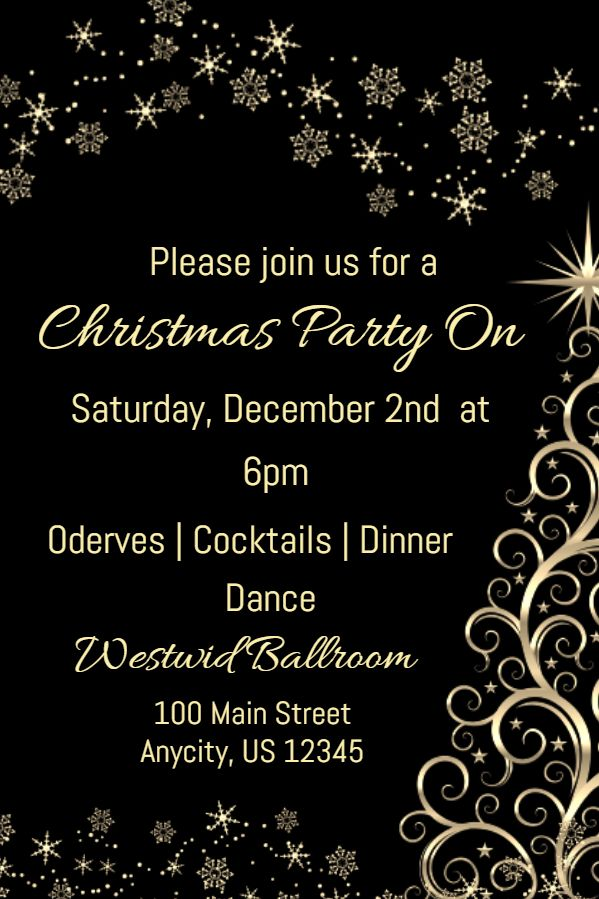 Christmas Party Invitation Card Template Click To Customize