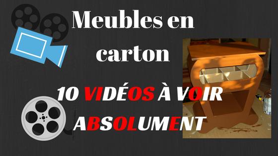 10 Videos Sur Les Meubles En Carton Toutes Les Techniques En Video Meubles En Carton Mobilier De Salon Carton