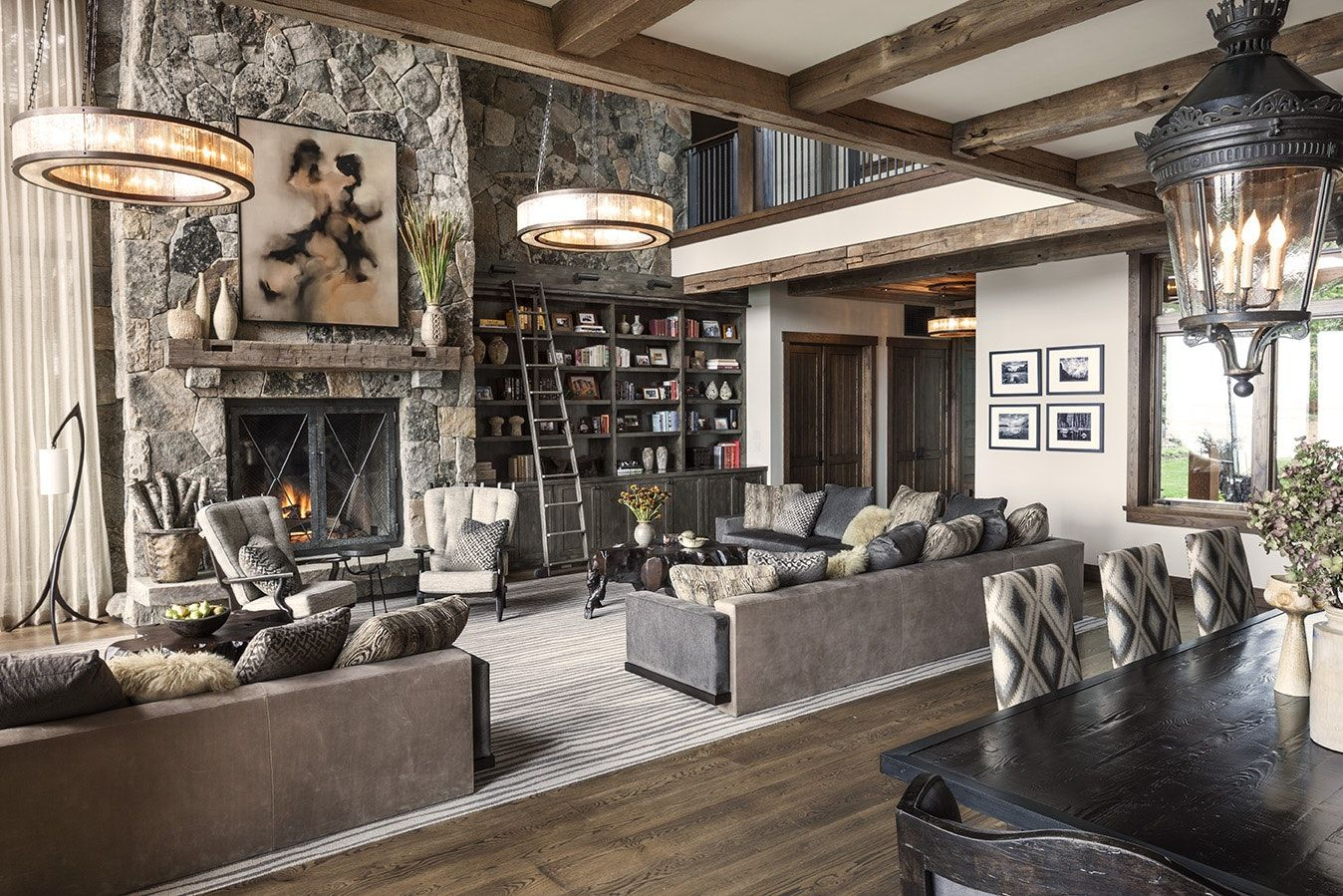Inside a stylish mountain home on lake tahoe designed by jeff
