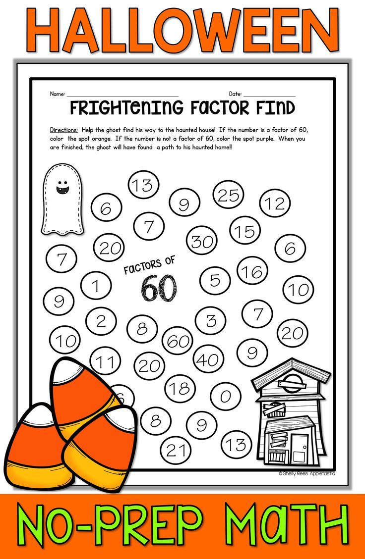 Halloween Math activities are fun and easy for teachers looking for  Halloween printable ideas for 3rd…   Halloween math worksheets [ 1129 x 736 Pixel ]