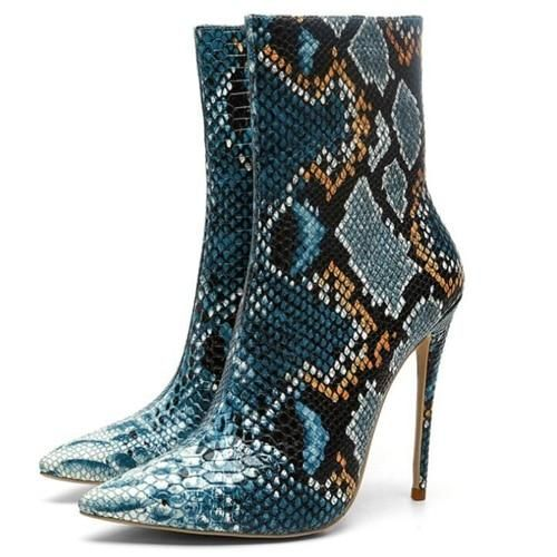 Knish's Snakeskin Short Boots 3