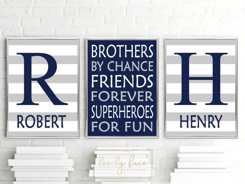 Brothers Wall Art Brothers Decor Boy Bedroom Decor Prints Or Etsy Art Wall Kids Playroom Wall Art Boys Bedroom Decor