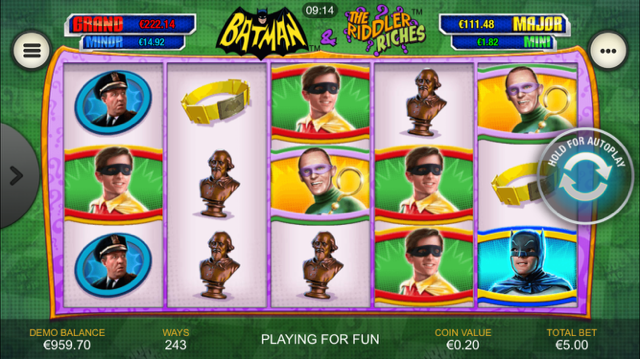 Jacks omania batman the riddler riches playtech casino slots tuning novomatic game
