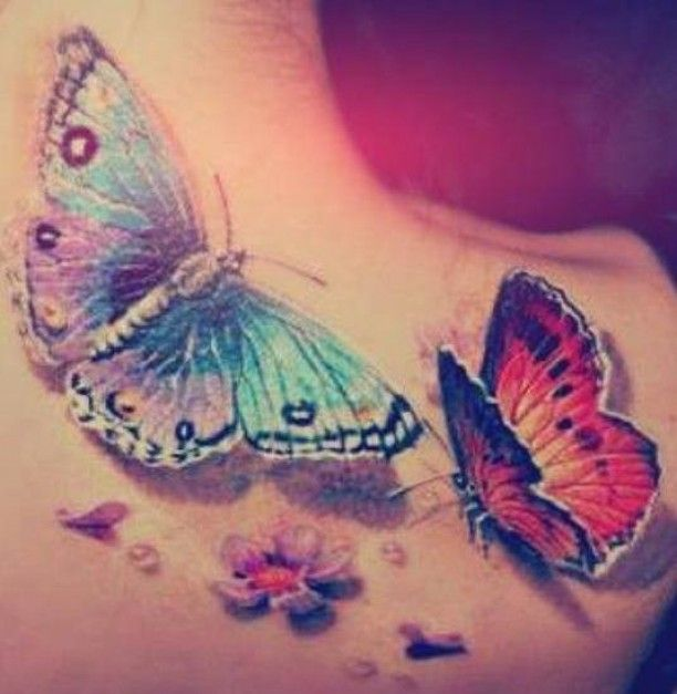 Schmetterlinge 3d Tattoo Schulter Fluturi Quilling Pinterest