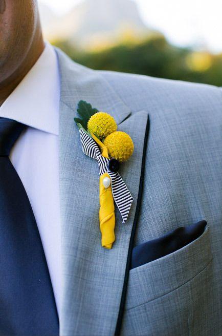 simple buttonhole by www.facebook.com/confettidaydreams